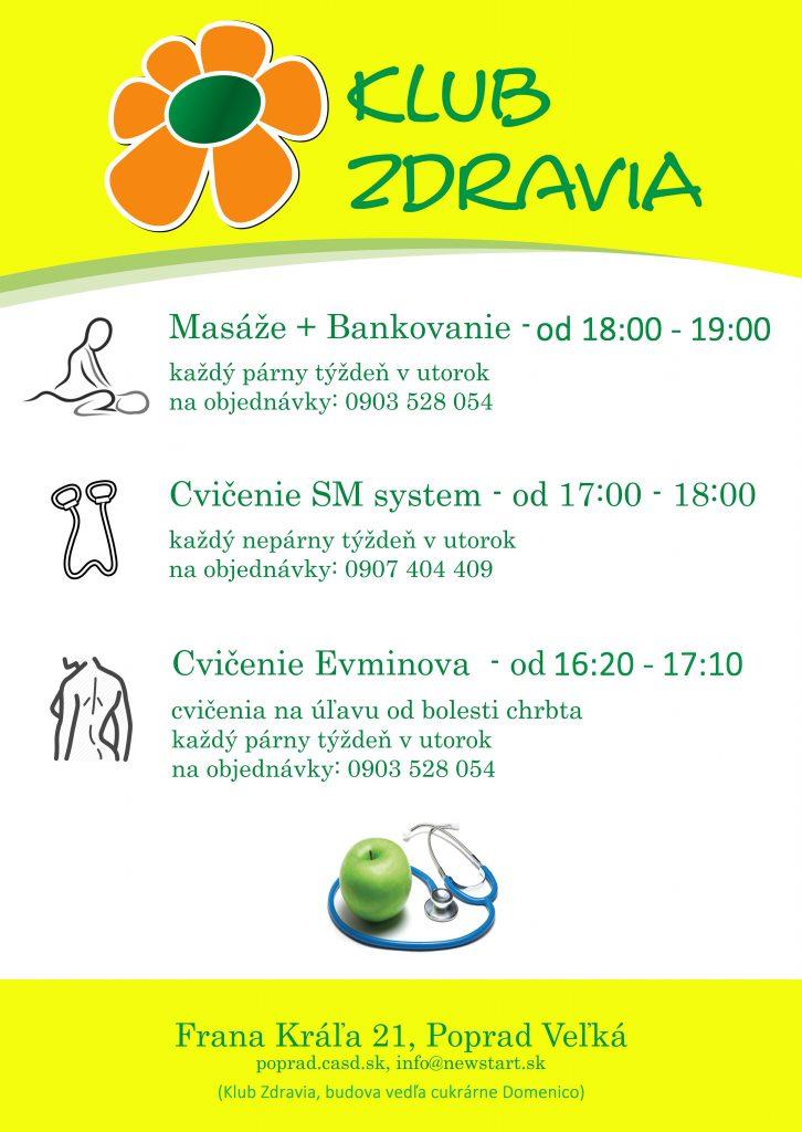 Aktivity Klubu zdravia Poprad